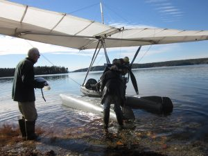 Last float-trike flight of the season happened yesterday. This is at Morgan Bay near Surry, Maine, w