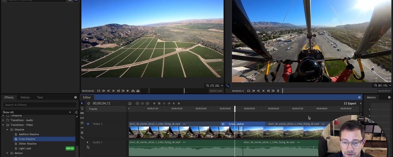 HitFilm Video & Audio Transitions For Flying Videos